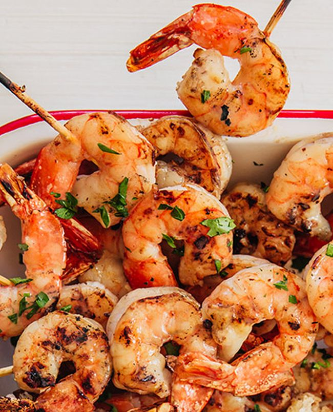 Spicy Garlic Grilled Shrimp